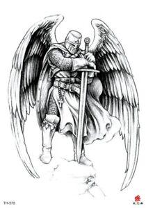 Angel Wing Warrior Big 8 25 Tempoary Tattoo Unique Tattoos For Women Ebay