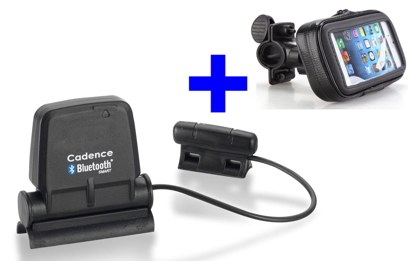 blueeETOOTH SPEED CADENCE Sensor+Fahrradhalterung für RUNTASTIC, iPhone 6 SE 7 8 X