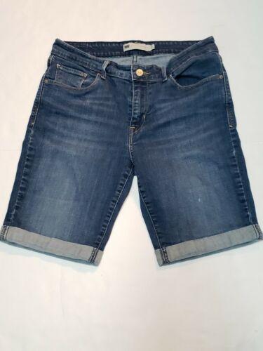 Levi Strauss Women's Blue Jean Bermuda Shorts Size
