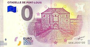 BILLET-0-EURO-CITADELLE-DE-PORT-LOUIS-FRANCE-2018-NUMERO-100