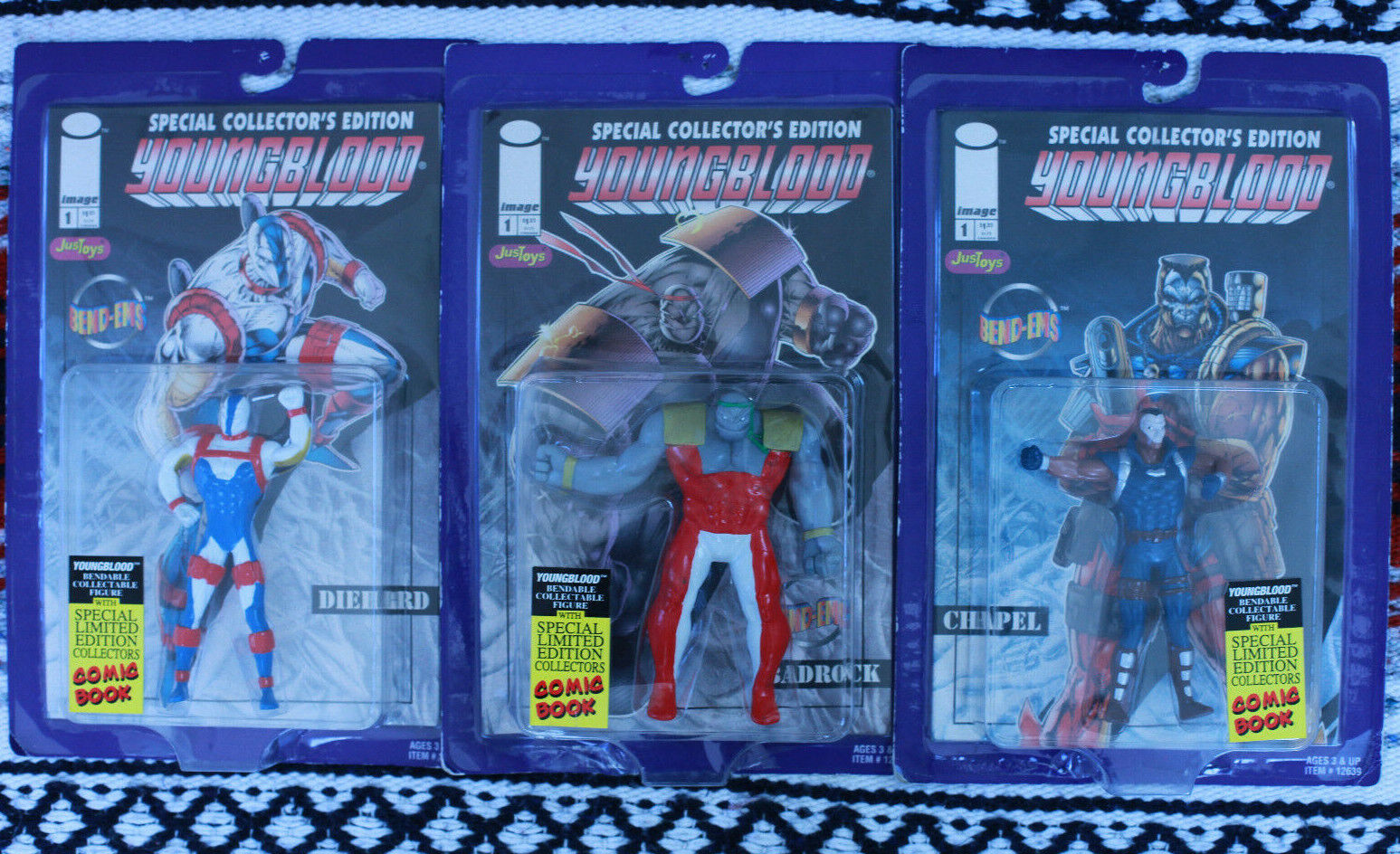 Vintage 90s YOUNGBLOOD Action Figures LOT 4 Bend-Ems Bend-Ems Bend-Ems w Comics & McFarlane Troll bc0d63
