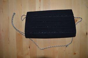 Handtasche Clutch Tasche zur Abendgarderobe schwarz / glitzer