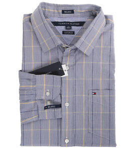 $0 Free Ship Tommy Hilfiger Men/'s Long Sleeve Button-Down Plaid Casual Shirt