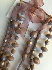 NEU H&M Lange Perlenkette Kette Halskette Perlen Rosa Romantisch TAYLOR SWIFT