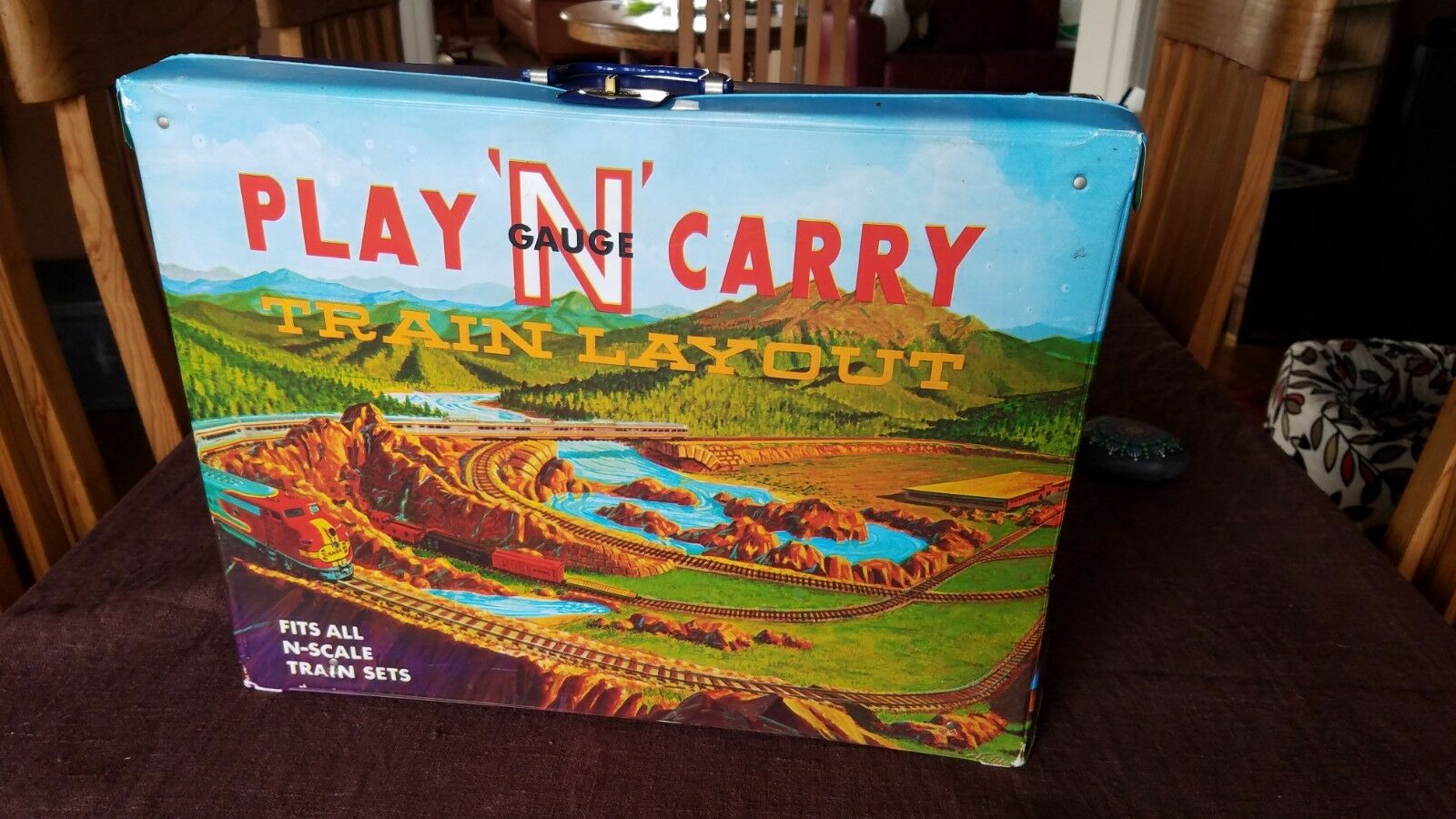Vintage Ideal Play N' Carry Model Train Layout Carrier with Storage - Very Cool