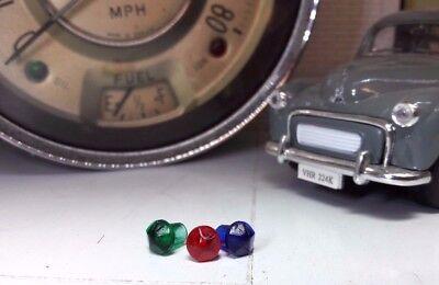 Morris Minor Early Gold Jaeger Smiths Instrument Gauge Speedo Warning Jewel Set