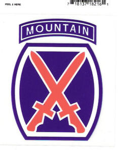 STICKER-DECAL-U-S-ARMY-10th-MOUNTAIN-DIVISION
