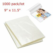 1000 Letter Size 9x115 Thermal Laminating Pouches 3 Mil Laminator Sheets