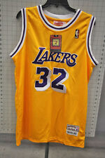 1979-80 LOS ANGELES LAKERS # 32 MAGIC JOHNSON MEN'S YELLOW JERSEY SZ. 48 40-F7