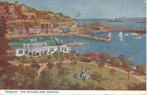 PC25017 Torquay. The Pavilion and Harbour. Photochrom. 1950