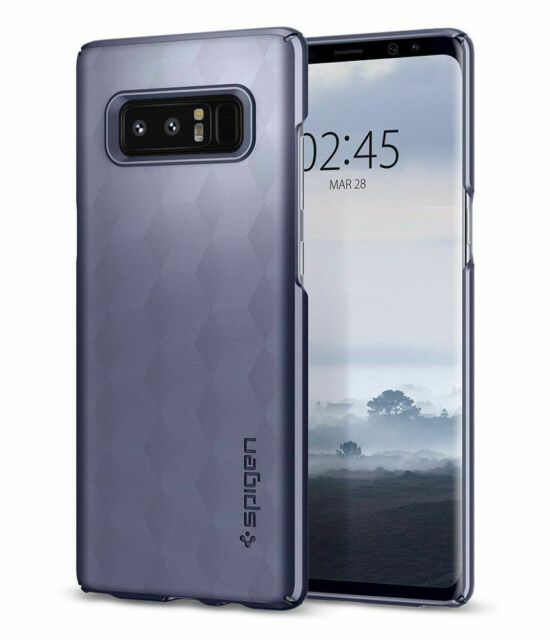 Galaxy Note 8 Case, SPIGEN Thin Fit Cover Case - Orchid Gray