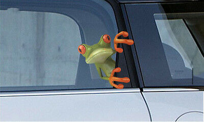 Stick 3D frog funny car stickers Truck Window Vinyl Decal Sticker New SH
