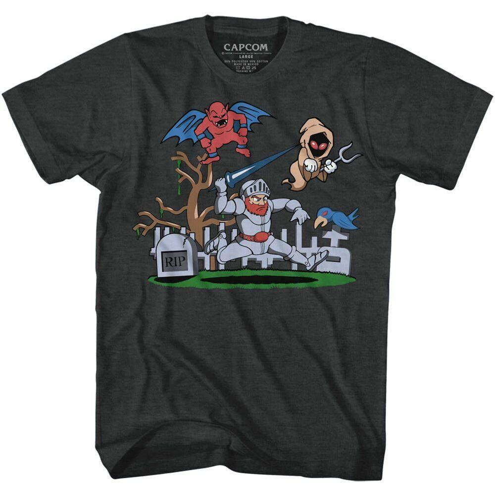 Ghost 'n Goblins - Cimetière - Américain Classiques - Adulte T-shirt