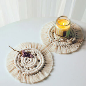 Tassel-Coaster-Handmade-Macrame-Bohemian-Style-Decorative-Drinks-Placemat