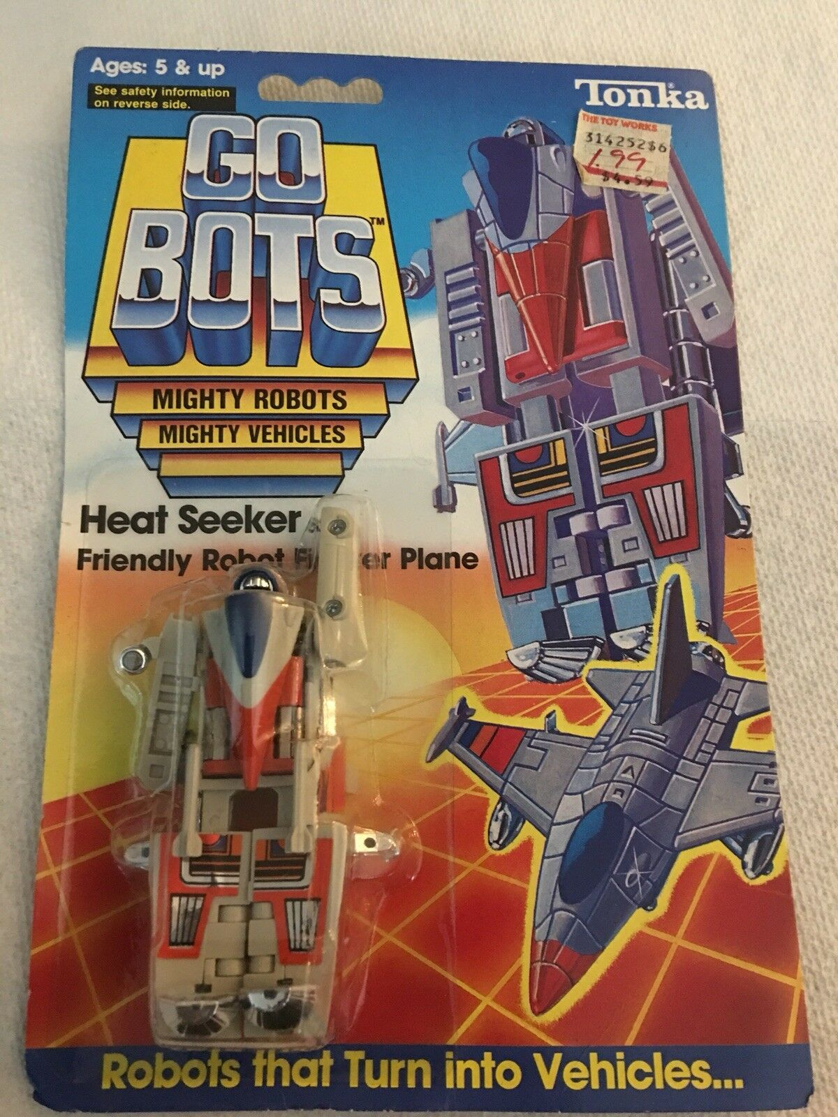 1985 G1 TRANSFORMERS GO BOTS HEAT SEEKER Friendly Robot Fighter Plane GoBots MOC