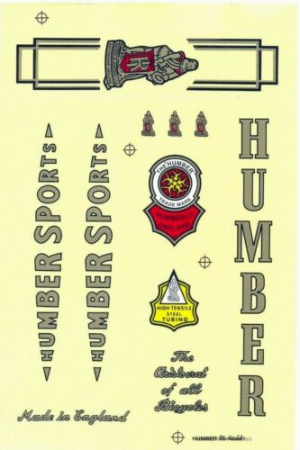 Bicycle Decal Vintage Bike Logo Sticker HUMBER SPORTS Spare Parts Sporting Goods