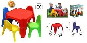 Table Enfants AVEC 4 CHAISES Jardin Pic