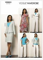Vogue Wardrobe V8963 Mix & Match Dress Suit Jaket Top Skirt Pattern Sz 6-22