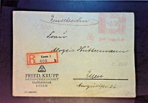 Germany-1933-Metered-Cover-Registered-Z1200