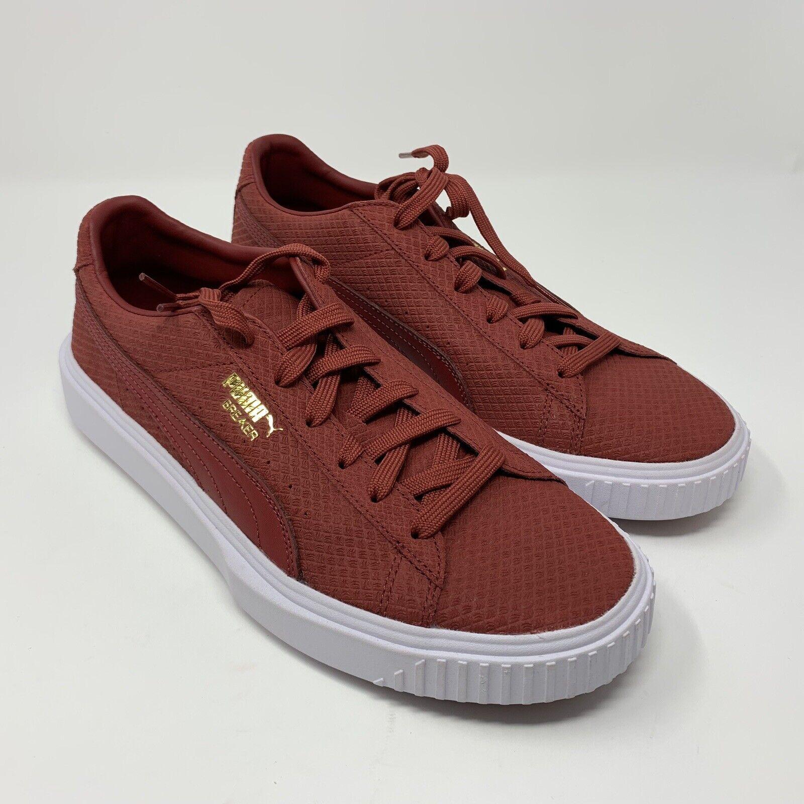 Puma Men's Breaker Suede Red Dahlia Sneakers Size 9.5 366077-02