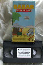 The Story of Babar The Little Elephant VHS Movie VCR Tape
