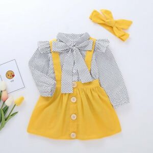 3PCS-Newborn-Infant-Baby-Girl-Clothes-Shirt-Button-Strap-Skirt-Dress-Outfits-Set