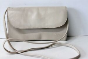 86d3c65836 CORDIZ Sac Pochette Rectangle Cuir Beige Bandoulière TBE | eBay