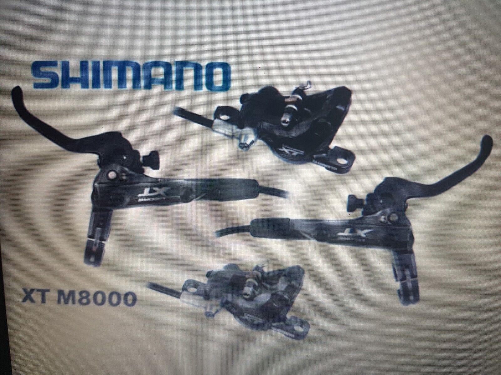 Coppia kit freni shimano xt br m8000 set