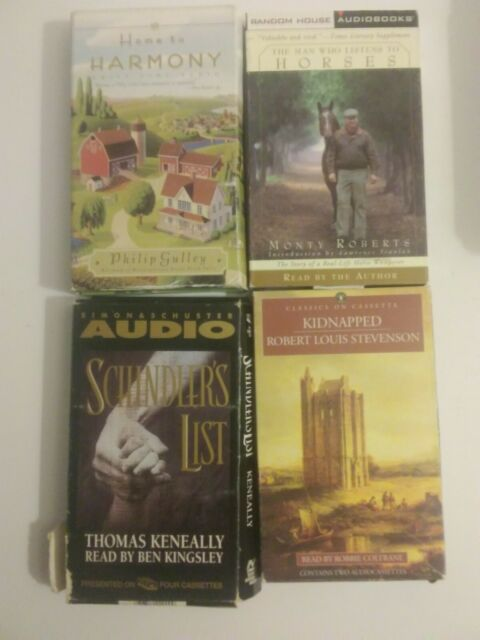 Lot of 4 audiobooks on cassettes- Home to Harmony, Philip Gulley, Monty Roberts