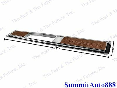 1970-72 Monte Carlo Console Top Plate Burlwood Automatic New Dii
