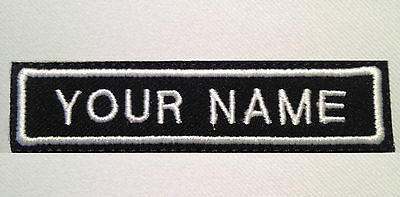 "Custom Embroidered Name Tag or Your Text Biker Vest Patch Badge 4"" x 7/8"" Harley"