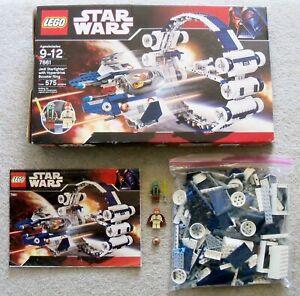 LEGO-Star-Wars-Rare-Jedi-Starfighter-w-Hyperdrive-Booster-Ring-7661-w-Box