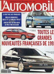L-AUTOMOBILE-MAGAZINE-n-546-12-1991-OPEL-ASTRA-GSI-FORD-ESCORT-RS-16V-AUDI-AVUS