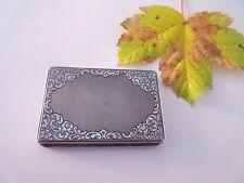 schönes   Etui  (Box - Schachtel))  antik - Silber  - Biedermeier - Jugendstil ?