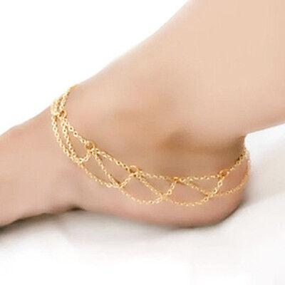2015 New Beach Barefoot Sandal Ankle Foot Link Mesh Tassel Chain Anklet Bracelet