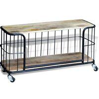 Industrial Tv Cabinet Stand Vintage Retro Style Wood Iron Media Storage Unit