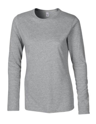 Softstyle Ladies /'Long Manche T-Shirt femmesGildan