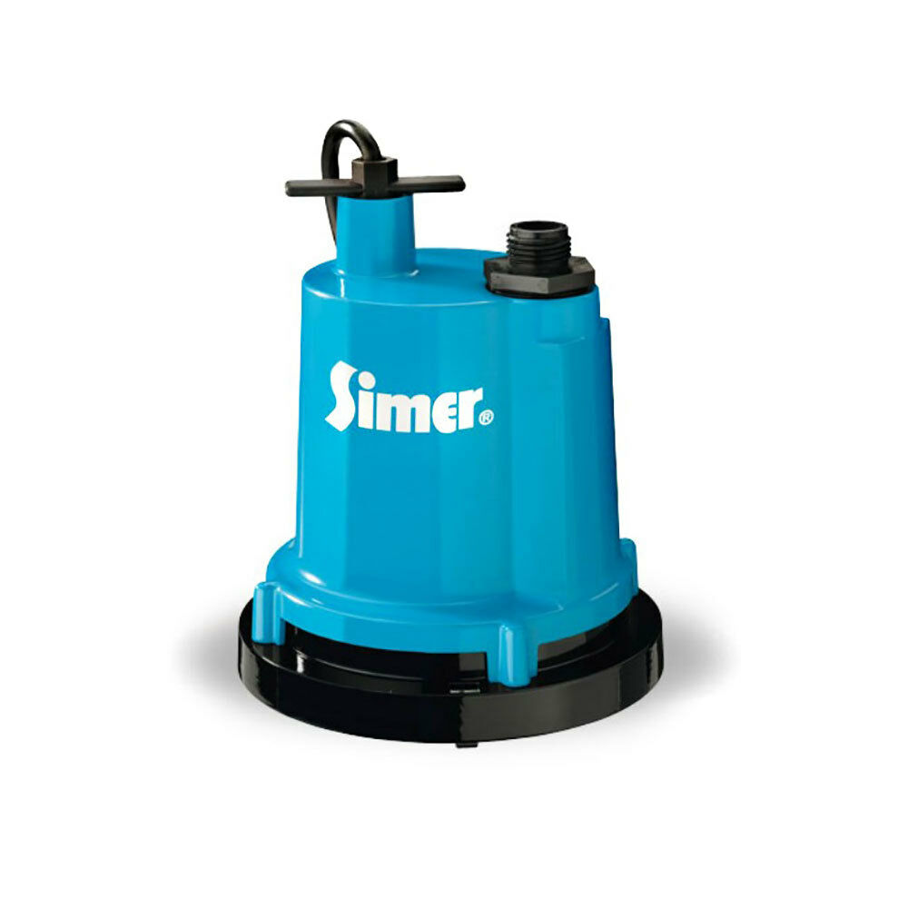 Simer 2300-04 Geyser Classic 1/4 HP 1320 GPH Submersible Utility Water Pump