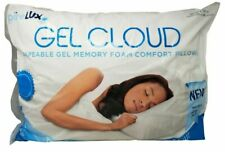 "Pure Lux Sinomax Gel Cloud Shapeable Gel Memory Foam Comfort Pillow 20x26/"" w//det"