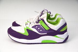 Saucony-Womens-Originals-Classic-Grid-9000-Green-Purple-US-10-Shoes-Sneakers