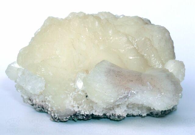 ZEOLITH Prachtvolle Weiße STILBIT Stufe m. APOPHYLLIT Jalgaon - Indien 11cm zj11