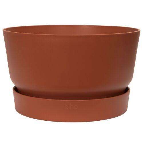Elho Greenville BRIQUE rotondo per piante ciotola vaso di fiori-riciclabili /& Serbatoio 33cm