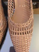 Stuart Weitzman Women's Sling Back Shoes Sandals Woven Size 7 1/2 N