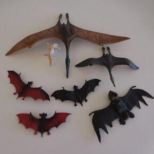 7-Figuras-Dinosaurios-Volantes-Murcielago-Vintage-Coleccion