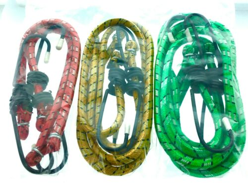 Bungee Cords with Hooks 6Pack Super Stretch Superior Strength with Rubber Core