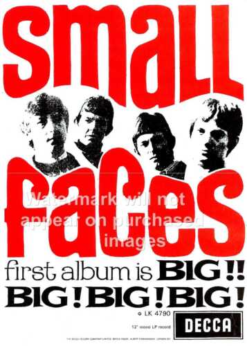 wall art Vintage advertising  poster reproduction. Small faces