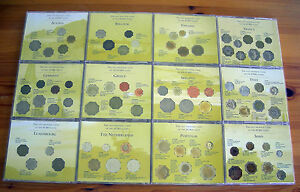 12-NATION-PRE-EURO-ZONE-COIN-COLLECTION-in-12-INDIVIDUAL-CD-TYPE-CASES-with-INFO