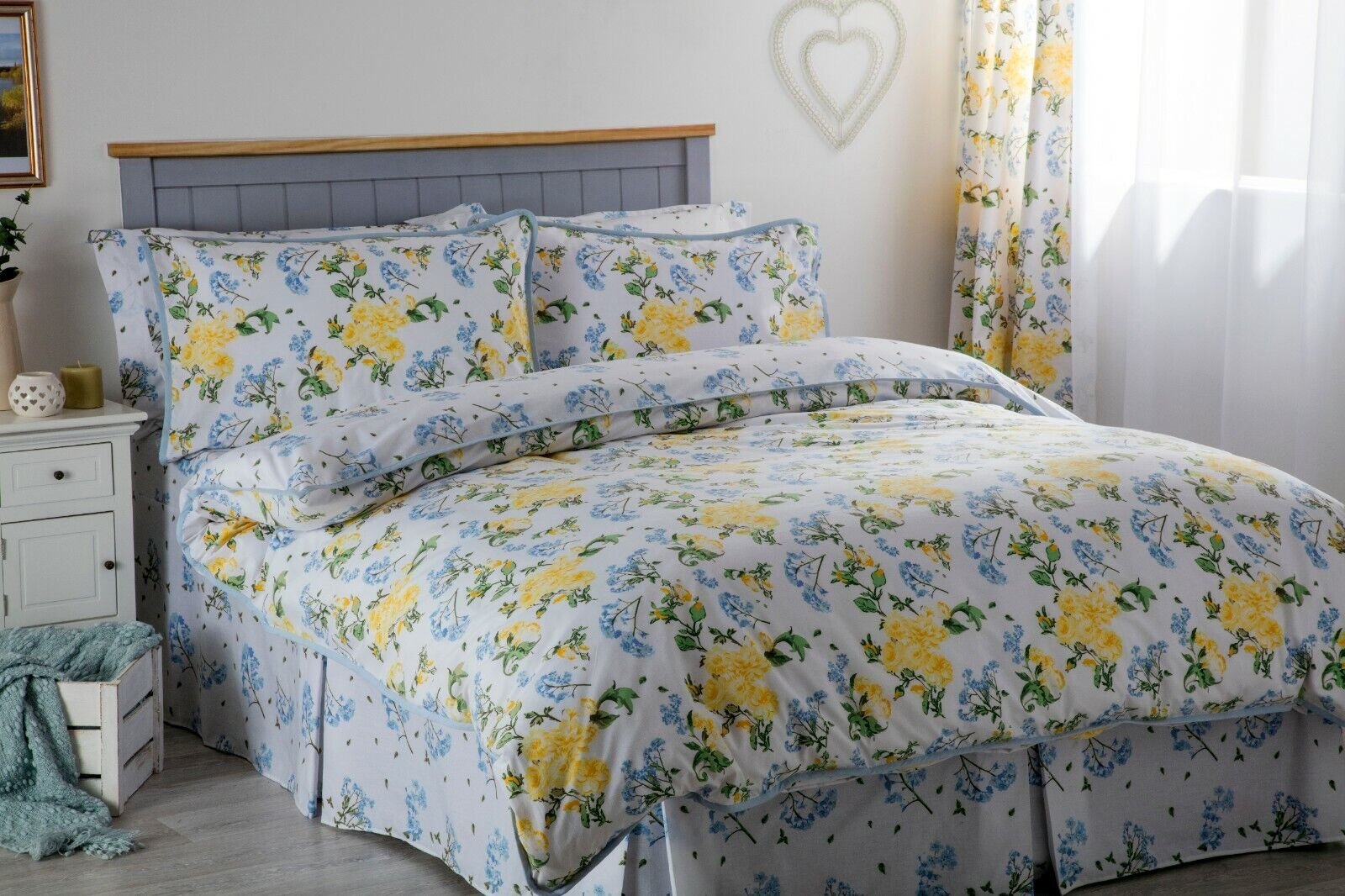 Country Diary Poppy Duvet Cover Bedspread Fitted Valance Curtains Oxford Pillow Case Pair Standard For Sale Ebay