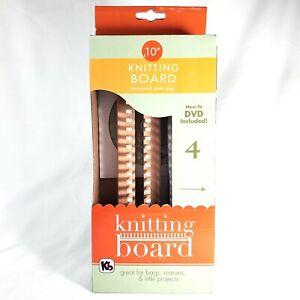 """KB Adjustable 10"""" Knitting Board w/ DVD 4 Pattern Projects ..."""