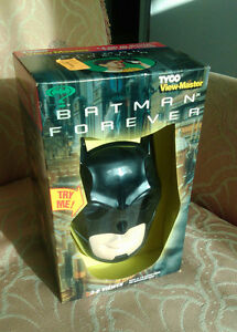 Vnt 1995 NEW IN BOX, TYCO VIEW-MASTER BATMAN FOREVER 3-D VIEWER WITH THREE REELS